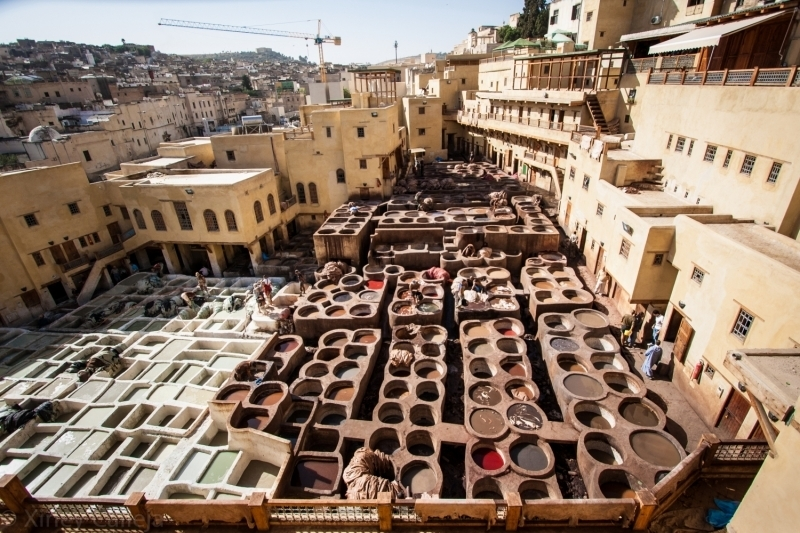 Tanneries Fez, Morocco